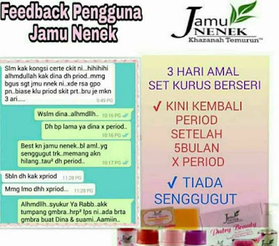 jamu nenek rapat plus review