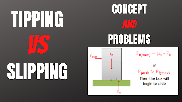 Slipping Vs Tipping Statics Problems | Slipping Or Tipping Will Occur? | Dynamics Lecture 33