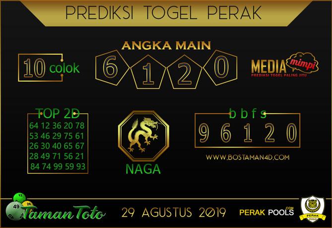 Prediksi Togel PERAK TAMAN TOTO 29 AGUSTUS 2019