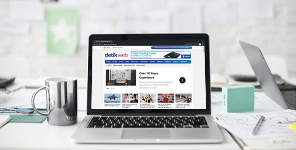 detikweb - Template Blogger Mirip Detikcom Terbaru 2020