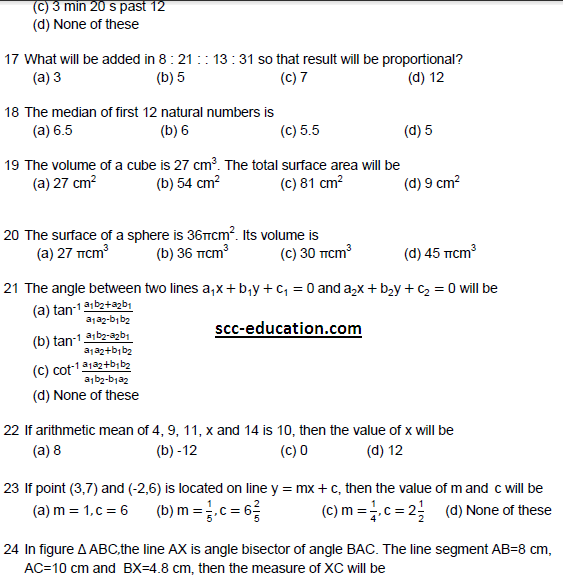 Combined entrance test   Mathematics Questions ,Delhi Polytechnic entrance test  Mathematics Questions,cet,