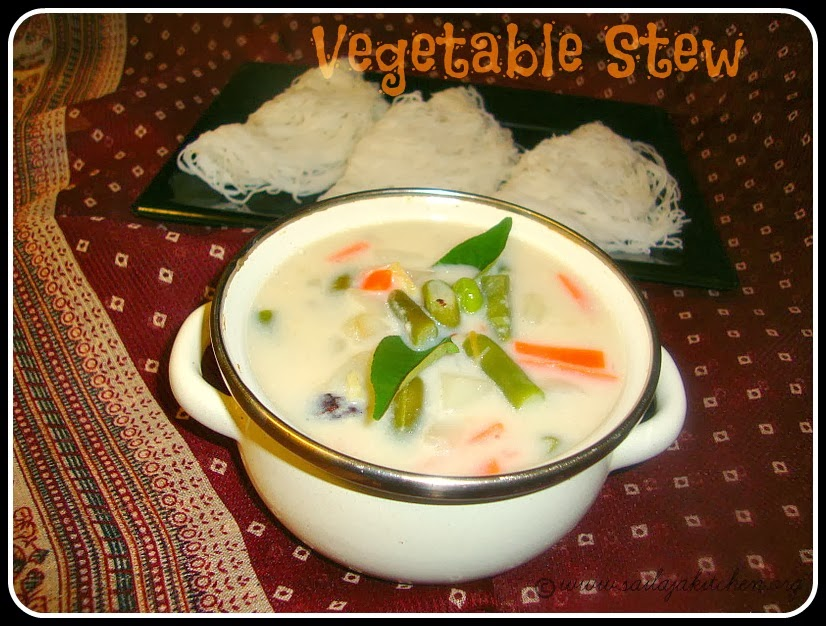 Vegetable Stew recipe / Kerala Style Vegetable Stew / Vegetable Stew (without coconut milk) Recipe Ingredients / Quick & Easy Vegetable Stew Recipe