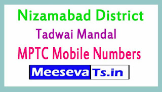 Tadwai Mandal MPTC Mobile Numbers List Nizamabad District in Telangana State