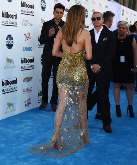 Jennifer Lopez 'Vestido Dorado' En los Premios Billboard
