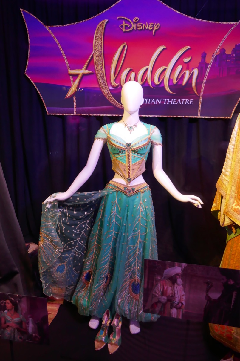 Hollywood Movie Costumes And Props Naomi Scott S Princess Jasmine Costume From Aladdin On Display