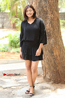 Actress Hebah Patel Stills in Black Mini Dress at Angel Movie Teaser Launch  0091.JPG