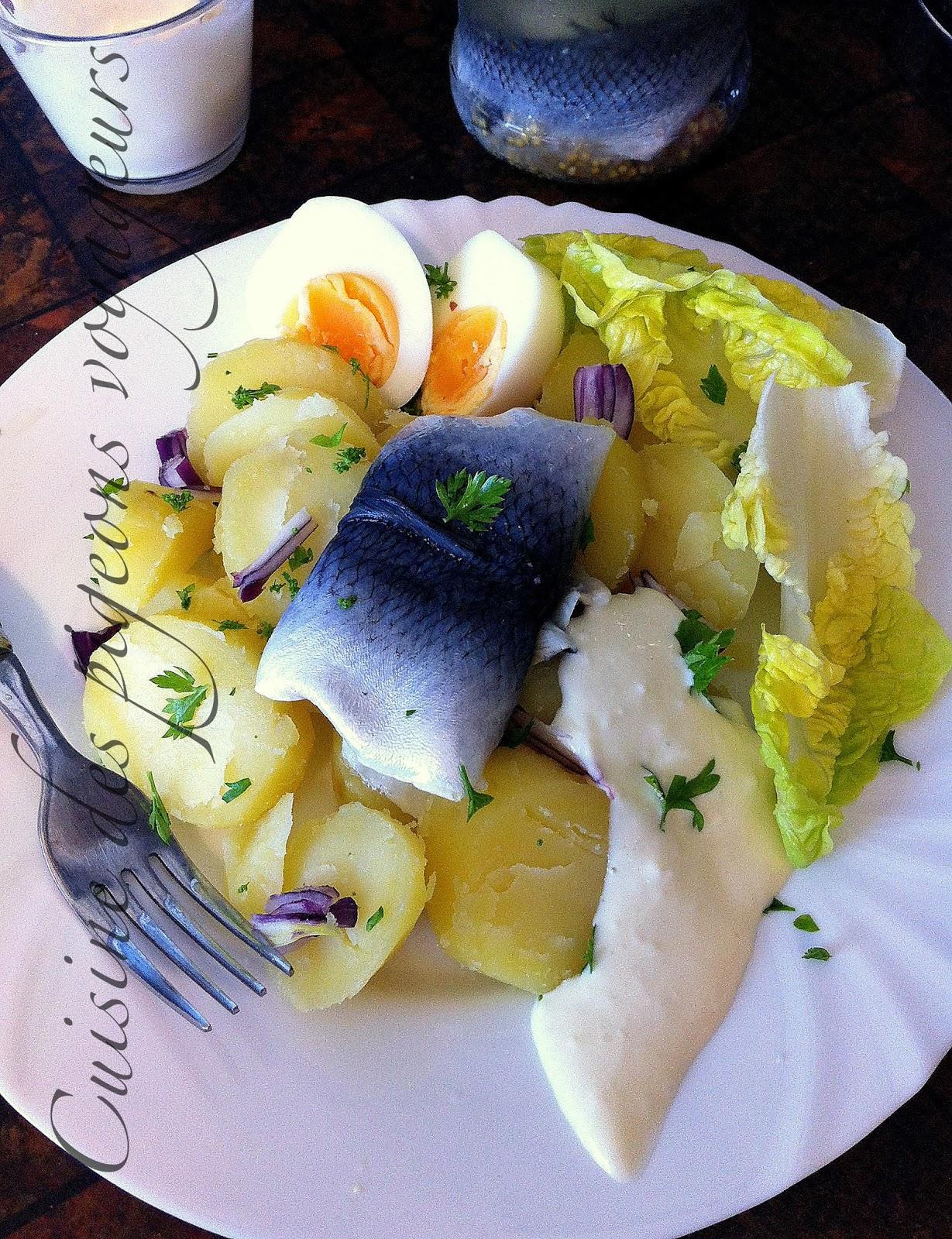 c hier de recettes des pigeons voyageurs salade de pommes de terre au hareng marin. Black Bedroom Furniture Sets. Home Design Ideas