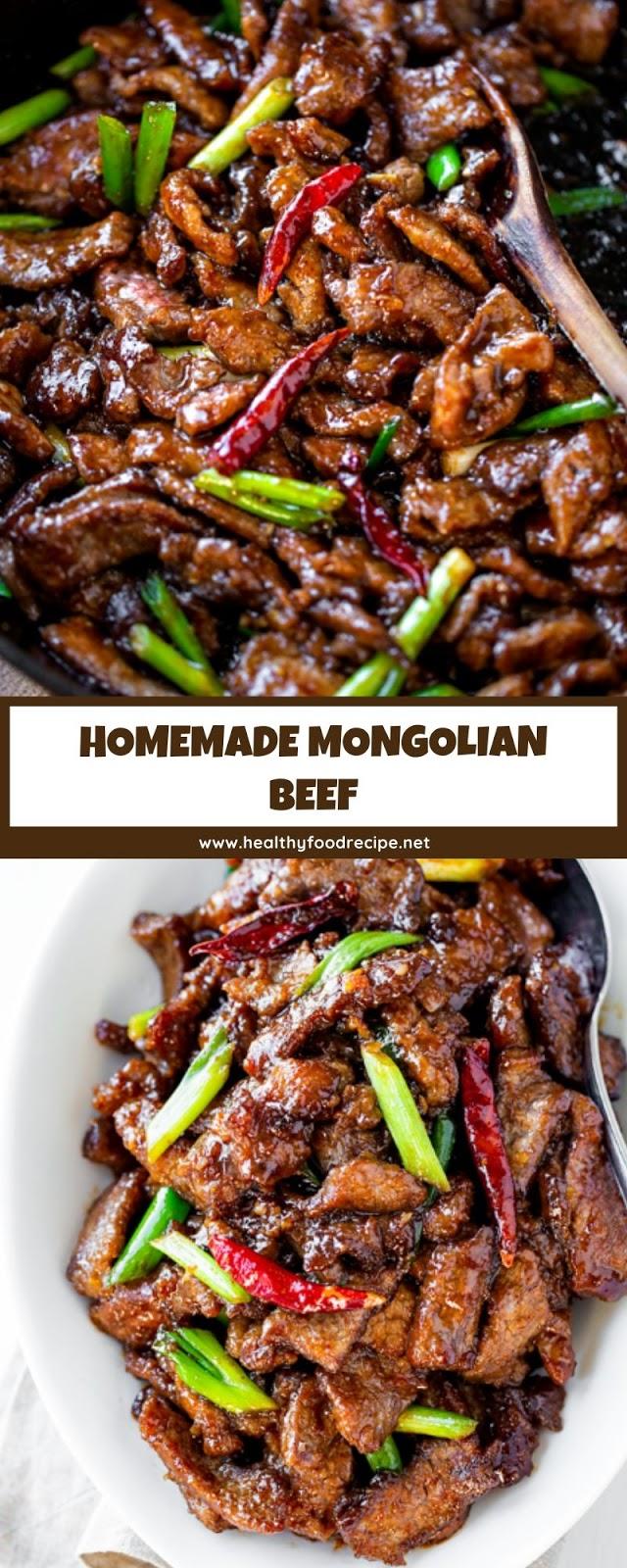 HOMEMADE MONGOLIAN BEEF