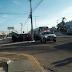 Bandidos atacam ônibus em frente ao Atacadão na av. João Medeiros Filho