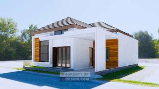 Tampak Depan Desain Rumah Minimalis 4 Kamar Tidur 1 Mushola