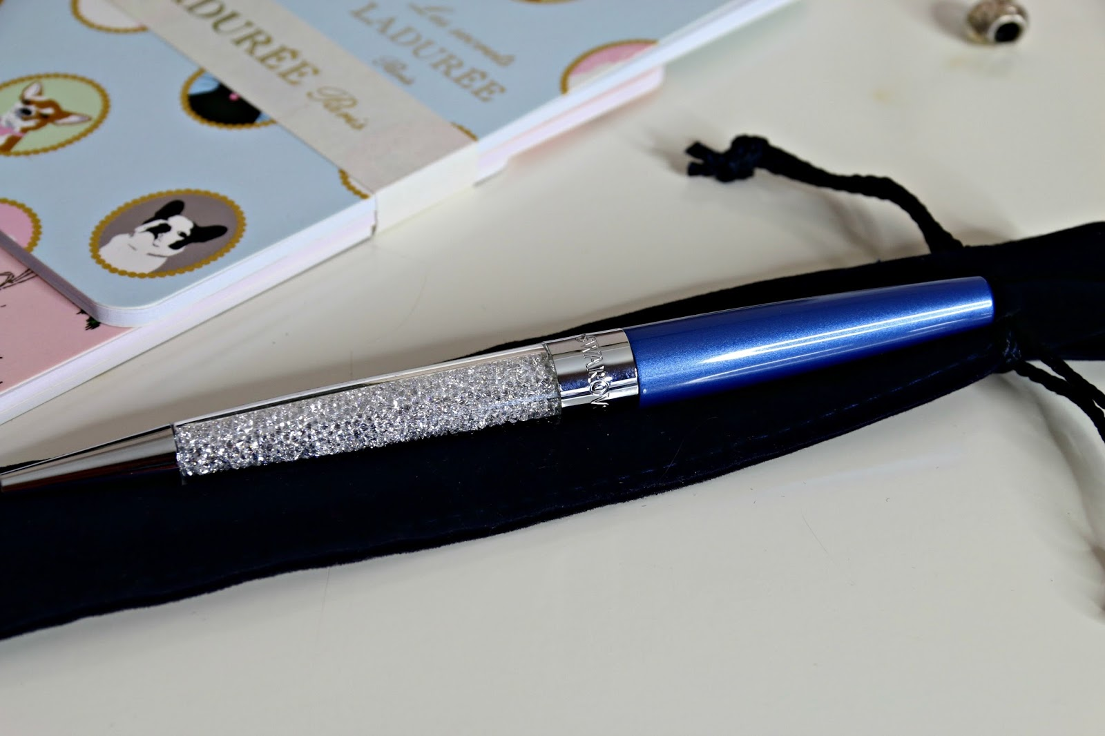 Swarovski Stationery Crystal Stardust Pen in Blue