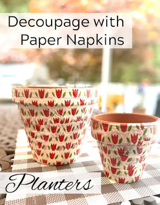 decoupaged napkin pinterest pin