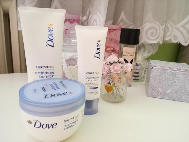 """Dove DermaSpa """"Cashmere Comfort"""" - nawilżające trio o wyjątkowym zapachu"""