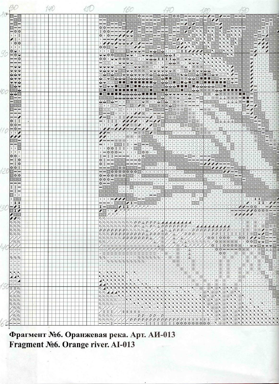 схема вышивки триптих африка