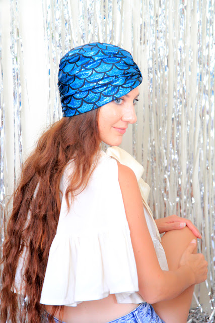 Mermaid Turban Hair Wrap by Mademoiselle Mermaid.