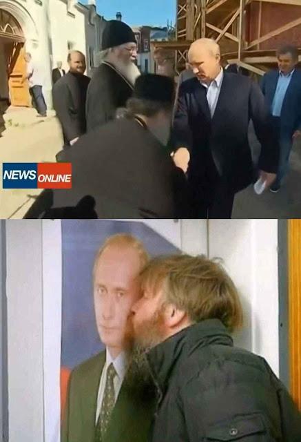 Na Rússia, Putin se faz venerar religiosamente. Até mais que o Papa Francisco no mundo livre!
