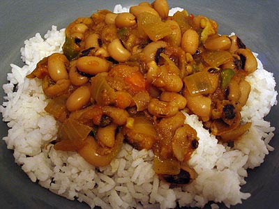 Lobhia Masala (Black-Eyed Pea Curry)