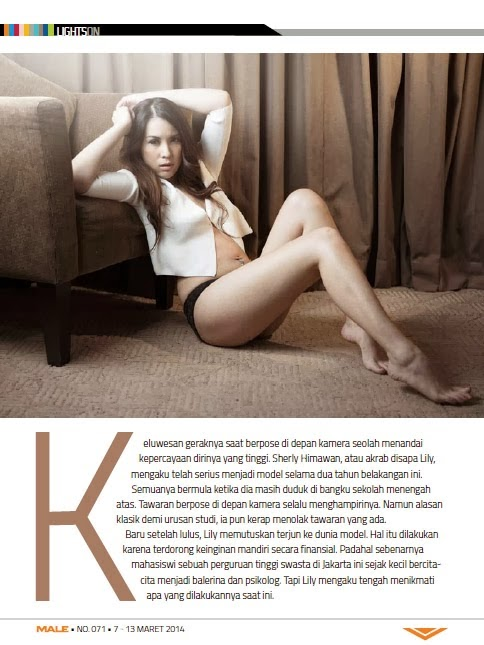 Sherly Himawan for Male Magazine March 2014