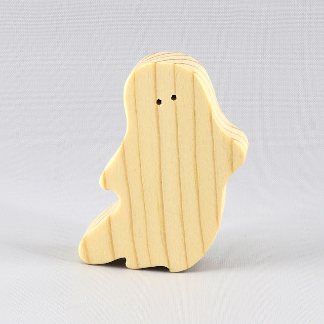 Handmade Wooden Halloween Ghost Cutouts - Set of 6 Silly Spooks - Boo Crew