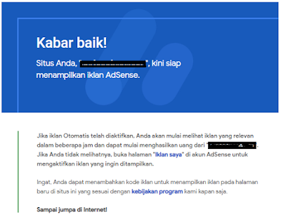 Add site Blog Domain TLD Ke Google Adsense