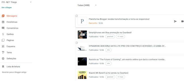 Plataforma Blogger recebe transformação e torna-se responsiva!