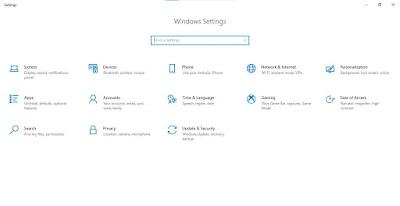 Buka Settings dari Start Menu > click Updates & Security