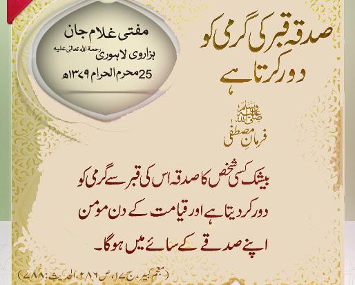 sadqa k fawaid