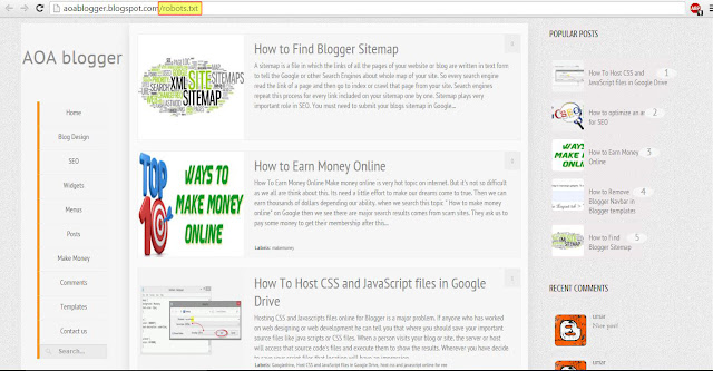 how to create blogger sitemap