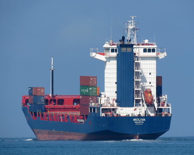 The cargo ship Moliva, IMO 9454034, Livorno