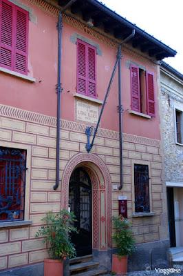 Facciata della casa Museo di Luigi Illica