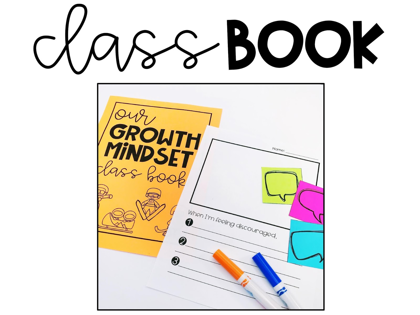 Growth mindset change the games all students can shine they will create a class book make cute athlete hats and work together to assemble a growth mindset anchor chart nvjuhfo Images