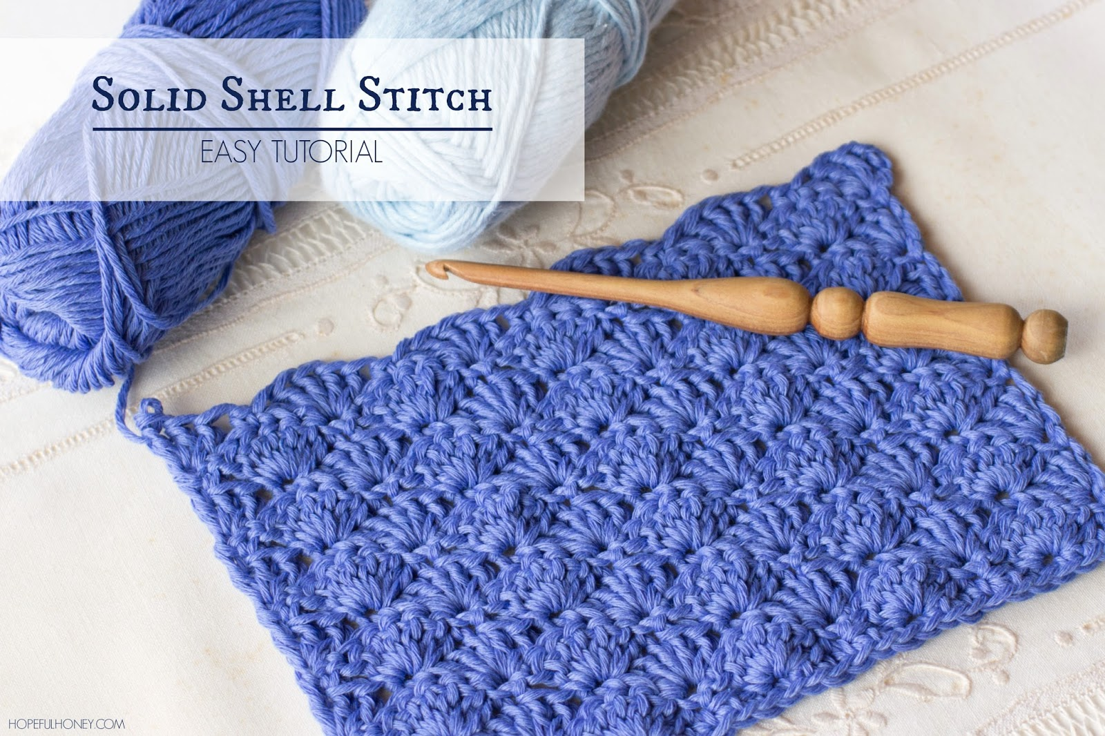 Crochet Stitches Tutorial : shell stitch is one of the easiest stitches to learn as the stitch ...