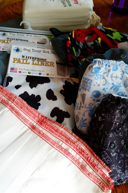 cloth diaper haul, diapers, baby, budget, all-in-one, prefold diapers, waterproof covers