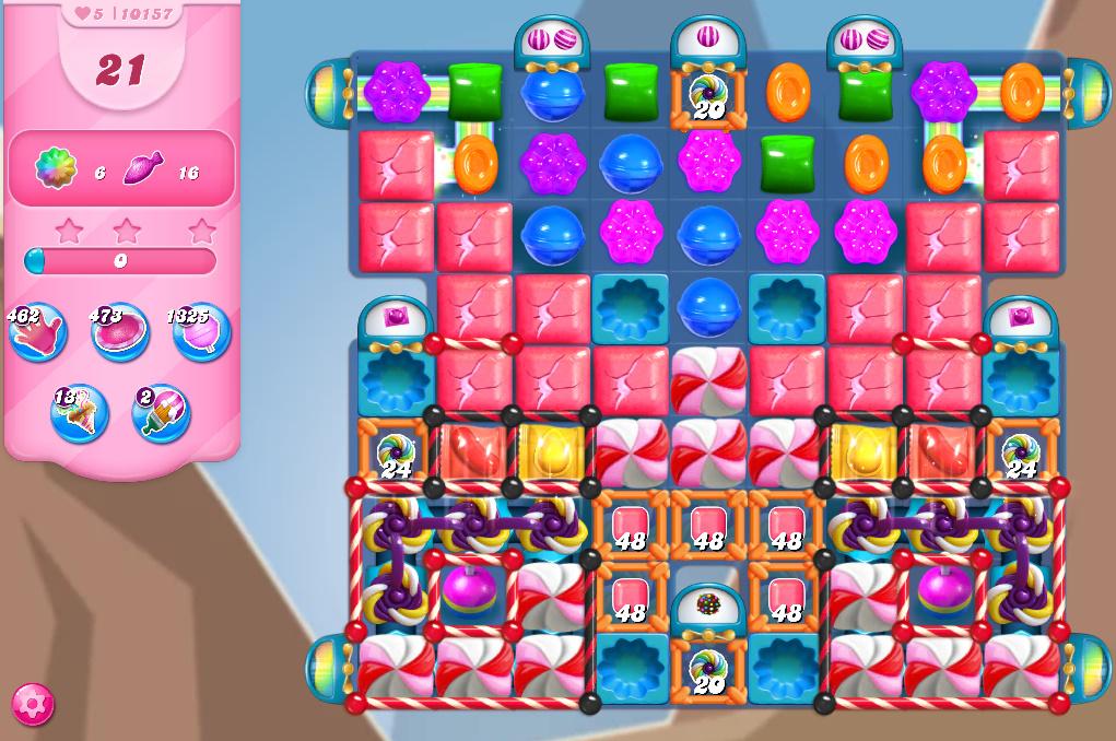 Candy Crush Saga level 10157