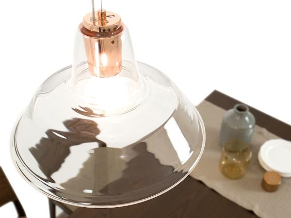 lampada cucina rame vetro murano homeplaneur
