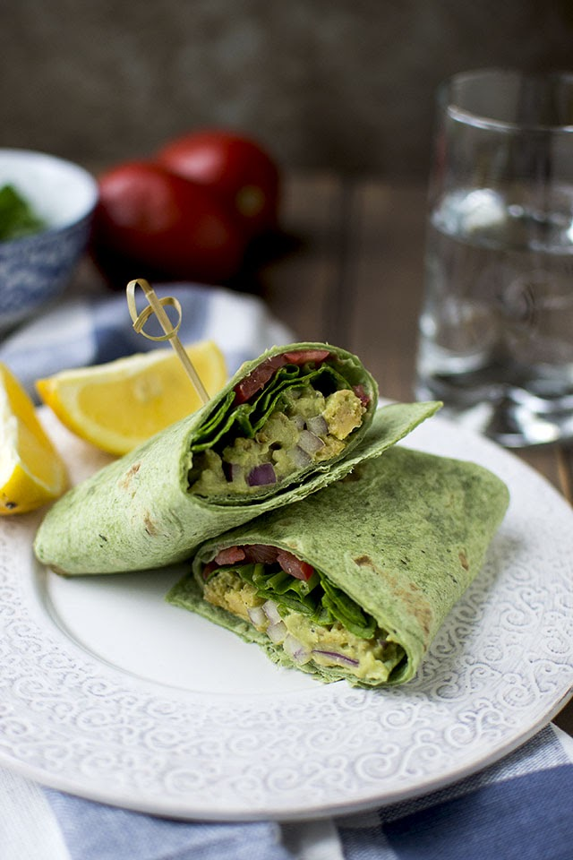Mock Tuna Sandwich Wrap