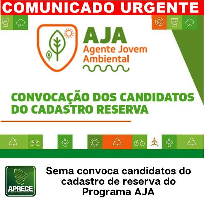 Comunicado urgente dirigido aos candidatos do cadastro reserva do programa AJA de Cariré-CE