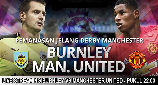 live streaming burnley vs manchester united 20 januari 2018