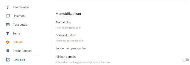 Cara membuat subdomain di blogspot dashboard baru