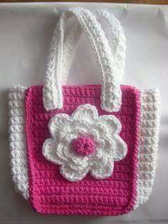 Crochet flower Handbags