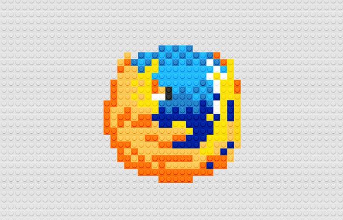 Logotipo Mozila usando LEGO