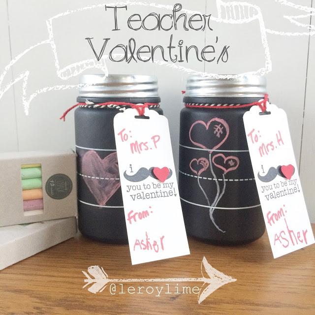Teacher Valentines - Valentine - LeroyLime