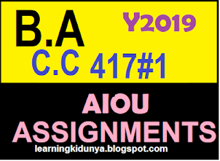 Solved assignment code 417 spring 2015