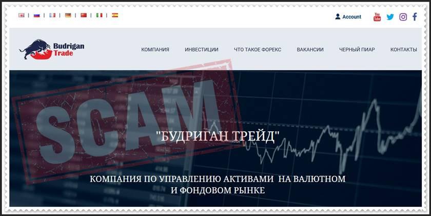 Мошеннический сайт budrigantrade.com – Отзывы? Брокер Budrigan Trade мошенники! Информация