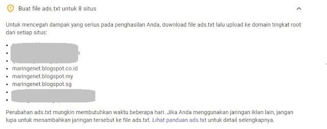peringatan ads.txt pada blog
