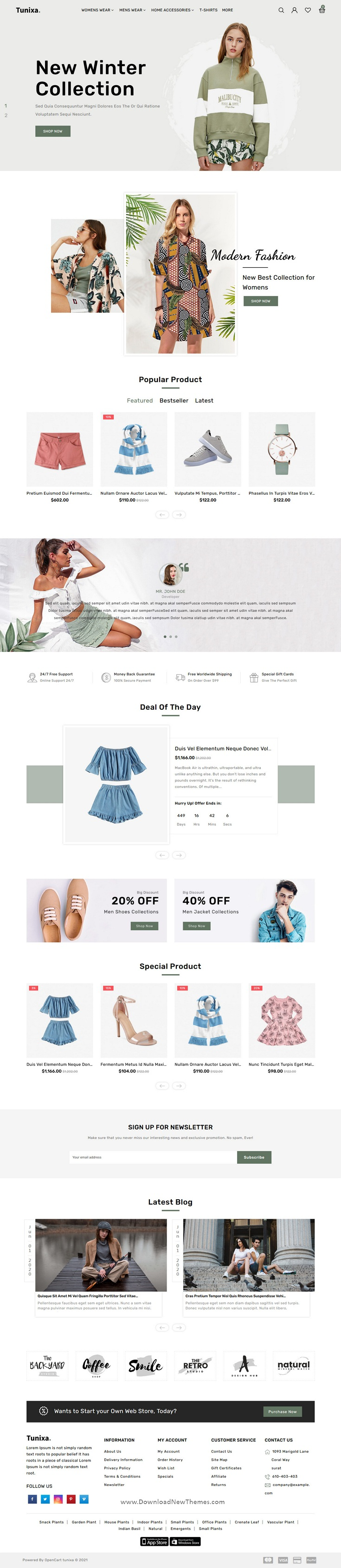OpenCart Fashion Responsive Theme