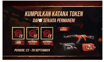Cara Mendapatkan Token Katana dan Token Shuriken pada Event Blood Revenge Free Fire [terbaru]