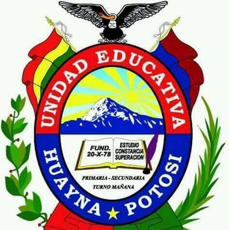 Escudos de la Unidad Educativa Huayna Potosí (El Alto, Bolivia)
