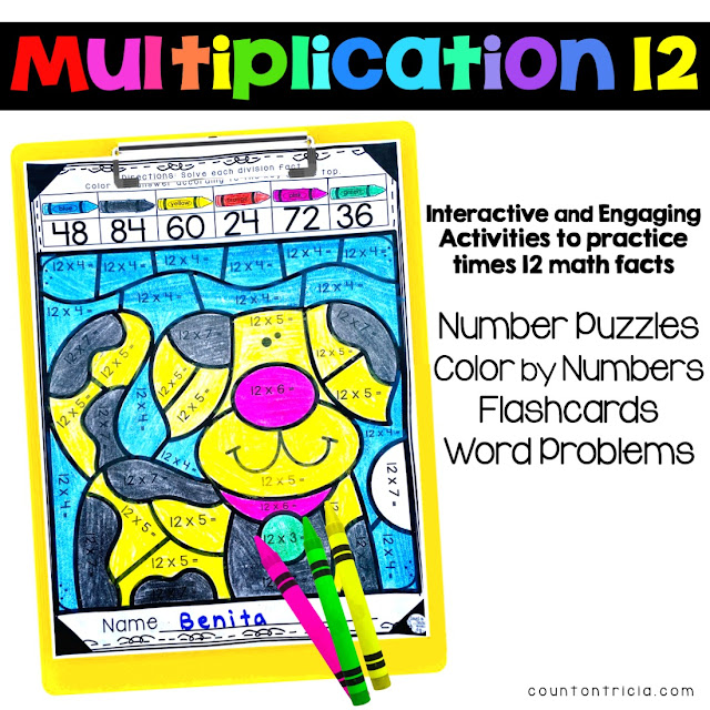 Multiplying by 12 Activities for Third Grade, Fourth Grade and Fifth Grade Math Review