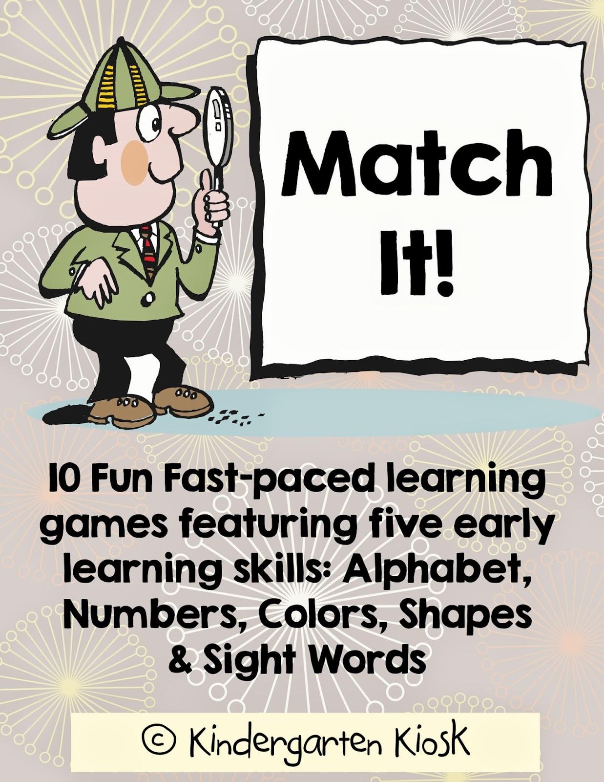Kindergarten Kiosk Ten Early Learning Games